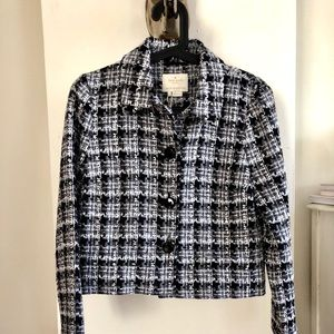 Kate Spade Textured Tweet Jacket. Size 4.NWT